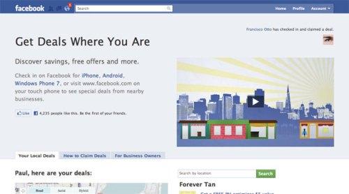 """Facebook sẽ thử nghiệm dịch vụ """"kiểu Groupon"""""""