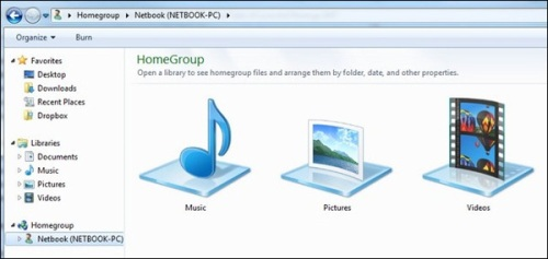 Windows 7 HomeGroup và Windows XP Networking - sự khác biệt4
